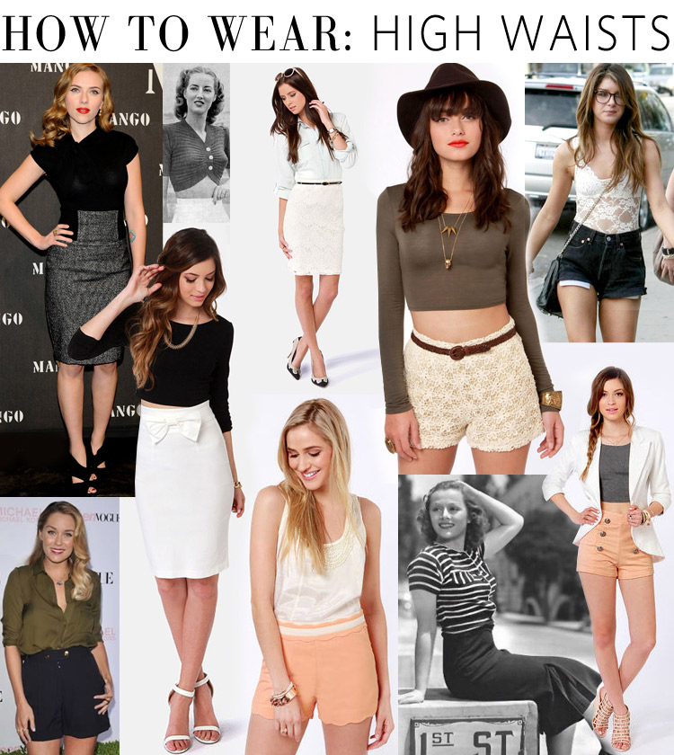 How To Wear High Waisted Shorts And Skirts The Ultimate Vintage Look At LuLus