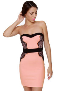 Utterly Irresistible Strapless Pink Dress