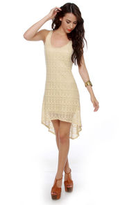 Crochet-ndo Cream Dress