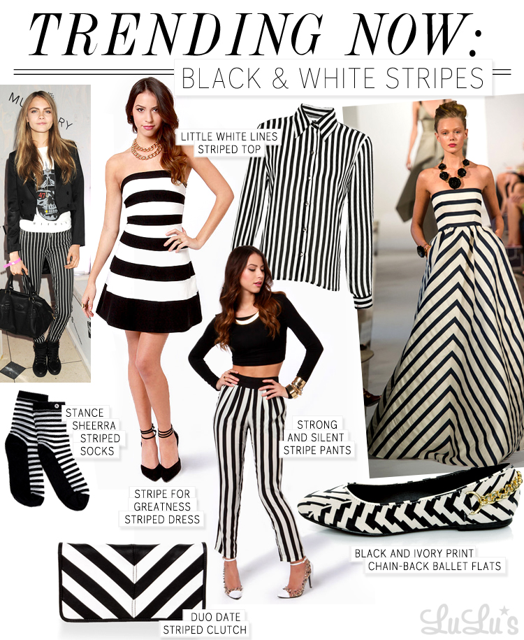 Trend Alert: Black and White Stripes