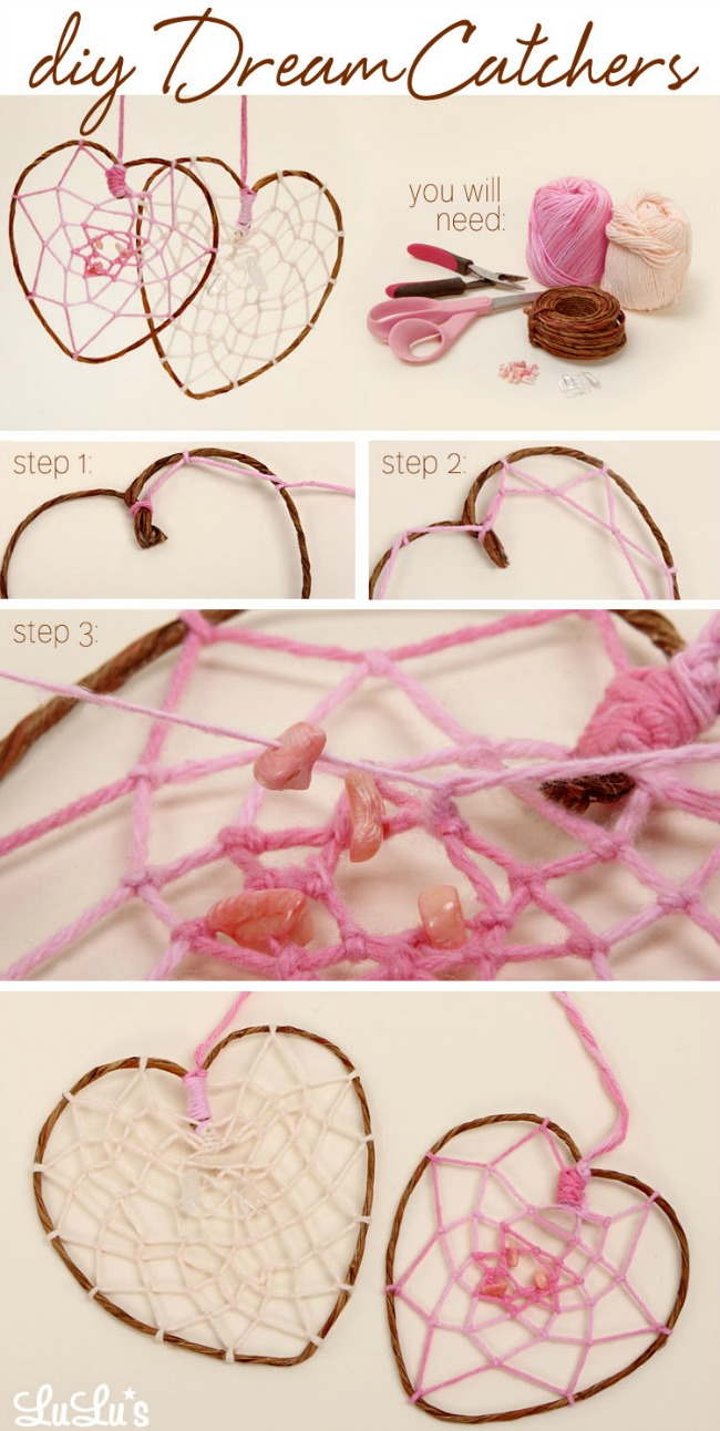 Diy how to make a heart shaped dreamcatcher blog for Dream catchers how to make them