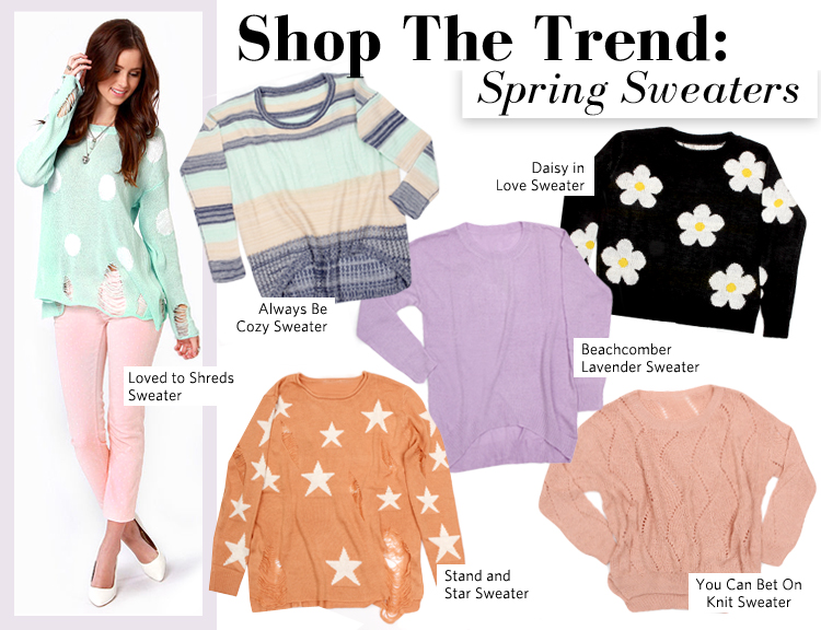 Shop The Trend: Spring Sweaters - Lulus.com Fashion Blog