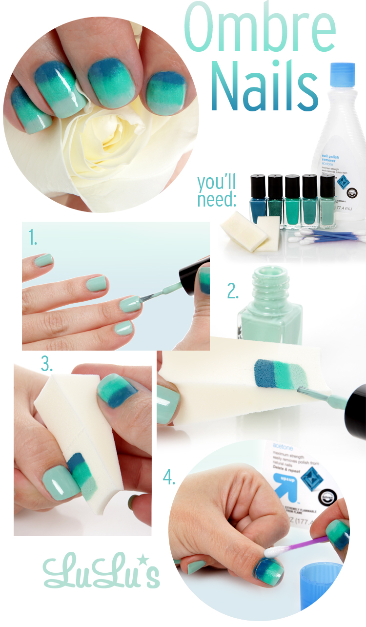 Lulus How To Spring Ombre Manicure Lulus Fashion Blog