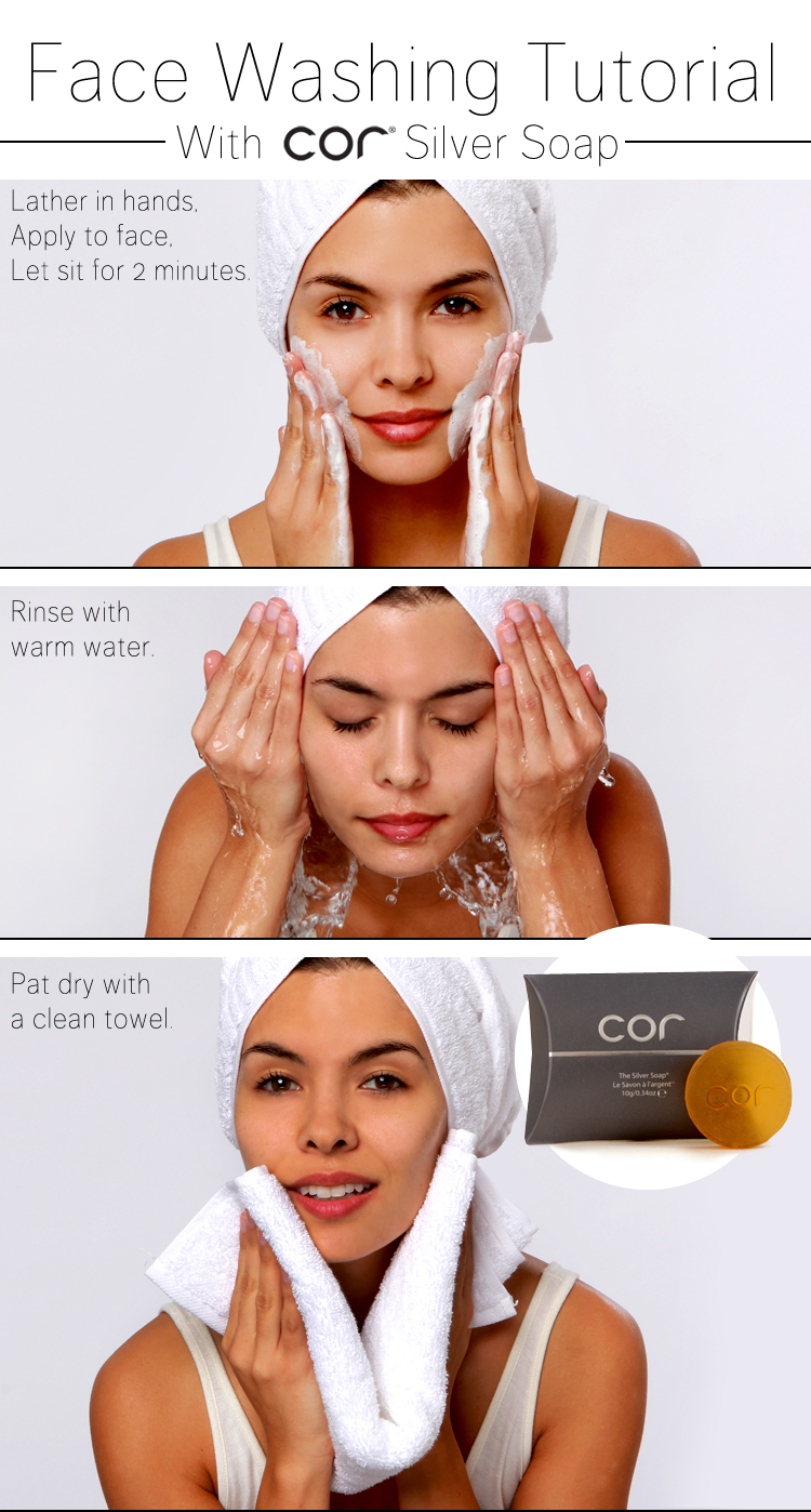 how to use cor silver soap