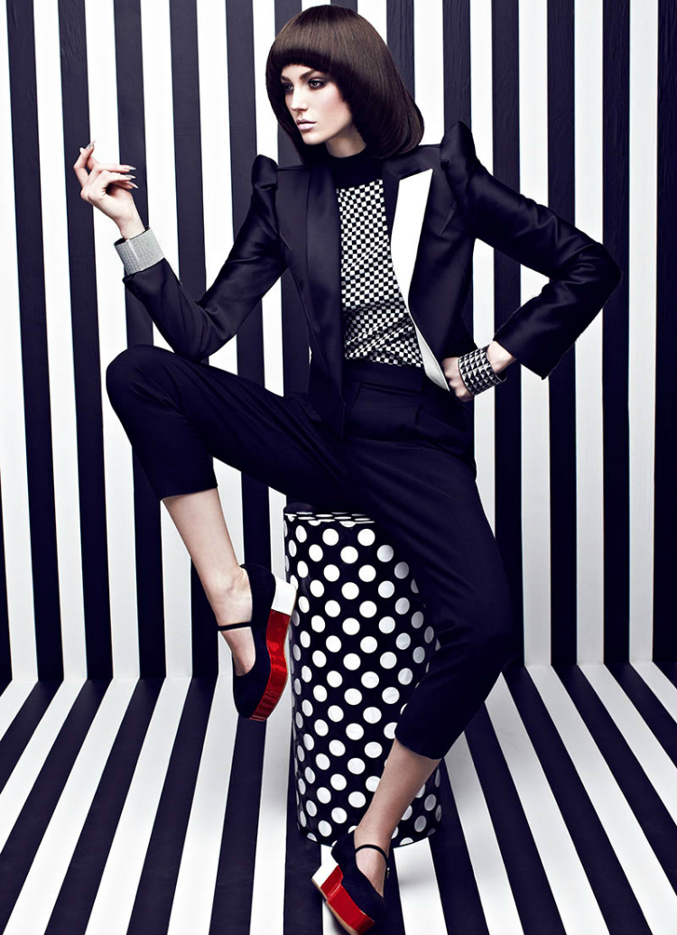 Black And White Stripes In Fashion Magazine