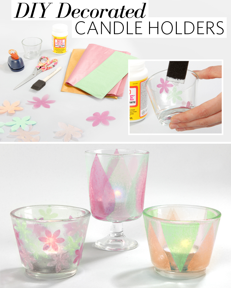 Diy decorated candle holders fashion blog for How to make glass candle holders