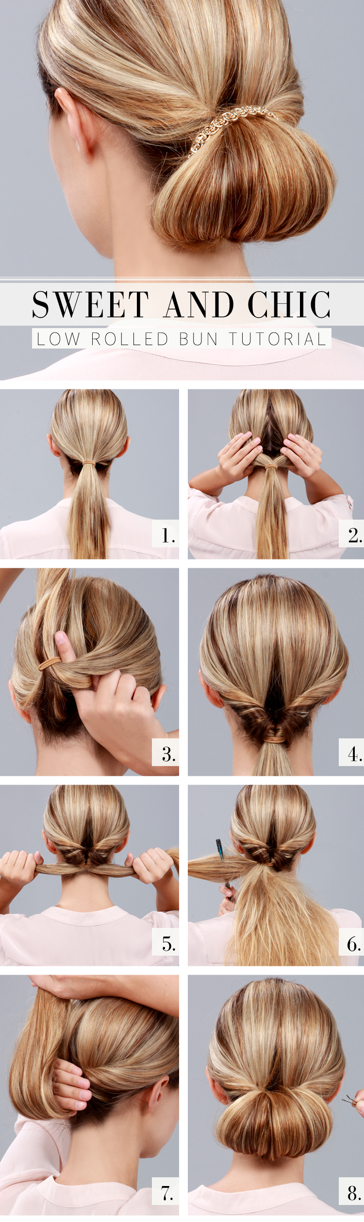Lulus how to chic low rolled bun tutorial lulus fashion blog lulus how to chic low rolled bun tutorial at lulus baditri Gallery