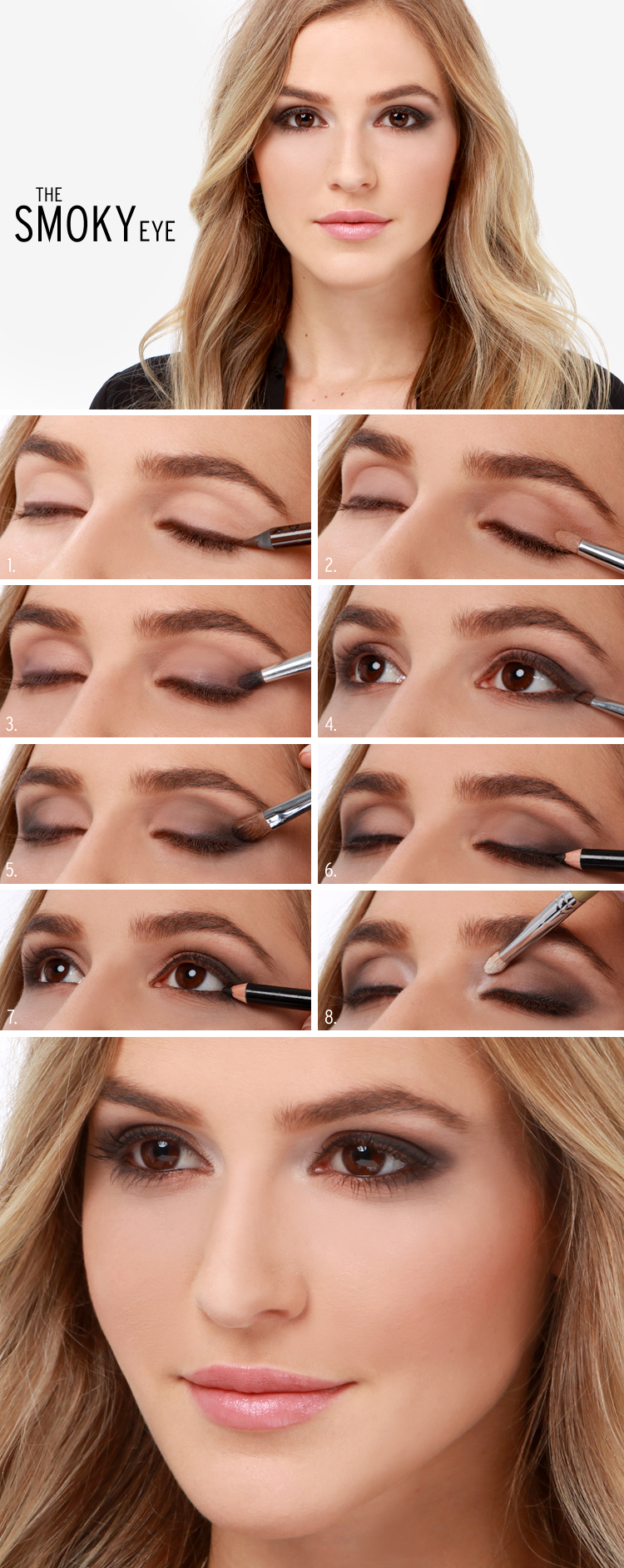 Lulus how to the smoky eye makeup tutorial lulus fashion blog lulus how to the smoky eye makeup tutorial at lulus baditri Image collections