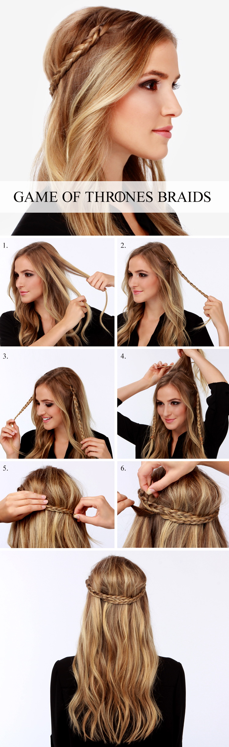 Lulus How-To: Game of Thrones Braid Tutorial! at LuLus.com!