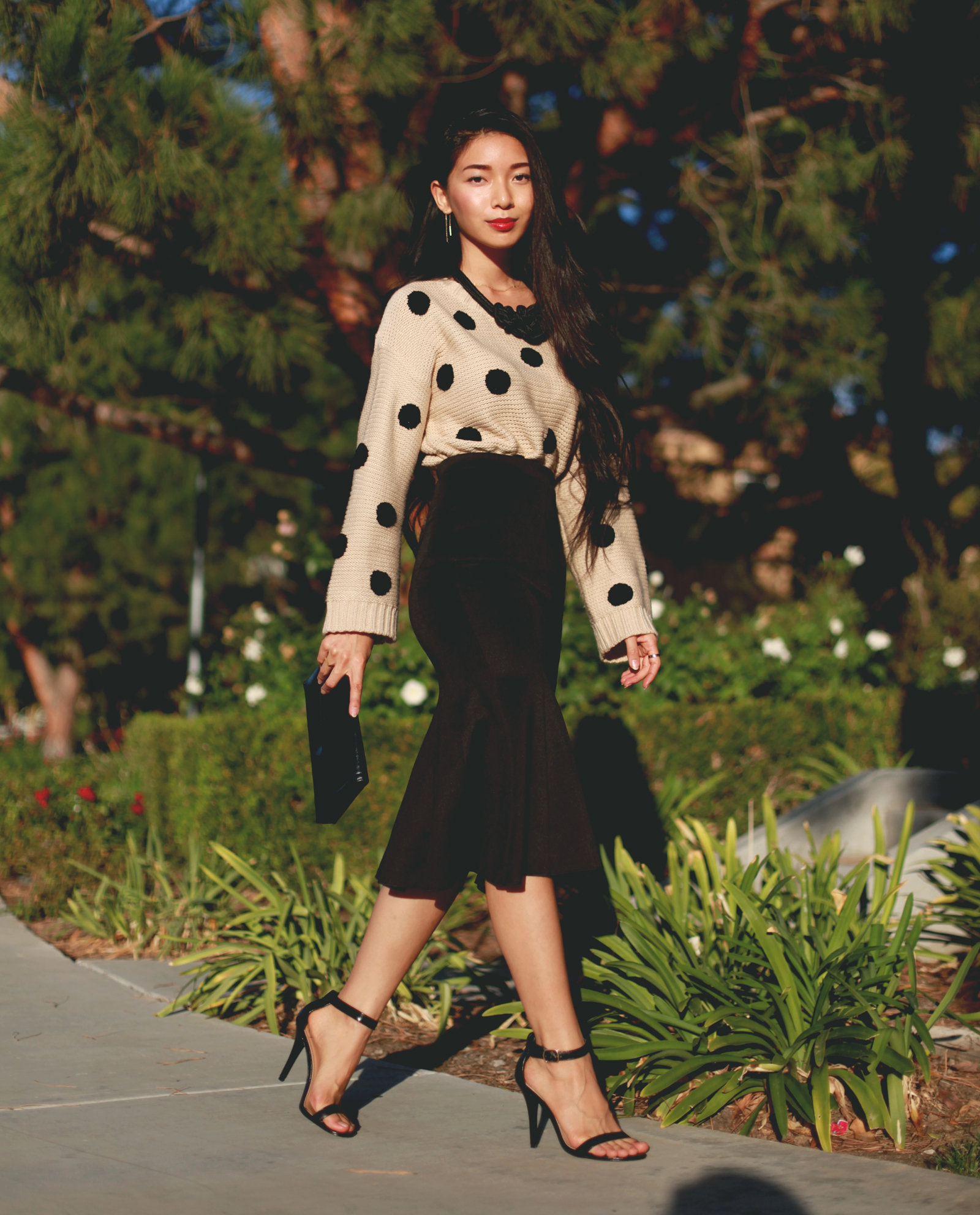Stephanie Liu of Honey and Silk wearing Lulus for Holiday 4