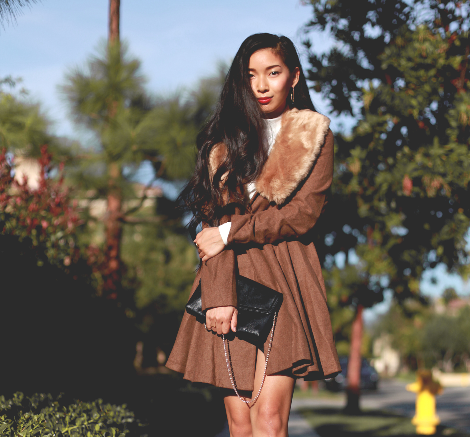 Stephanie Liu of Honey and Silk wearing Lulus for Holiday 10