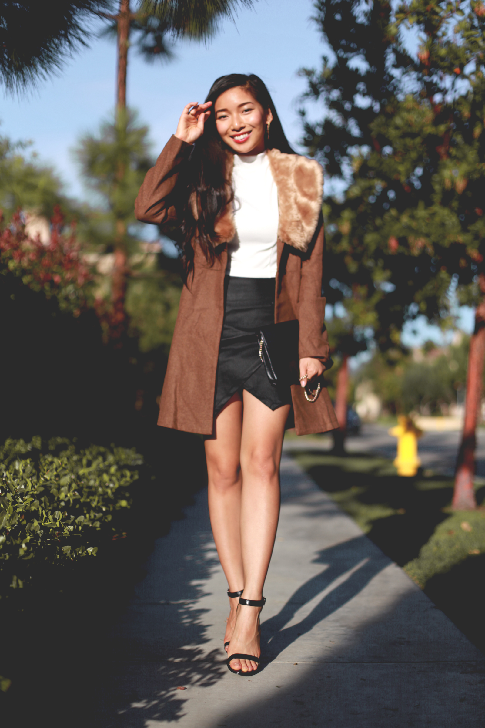 Stephanie Liu of Honey and Silk wearing Lulus for Holiday 12