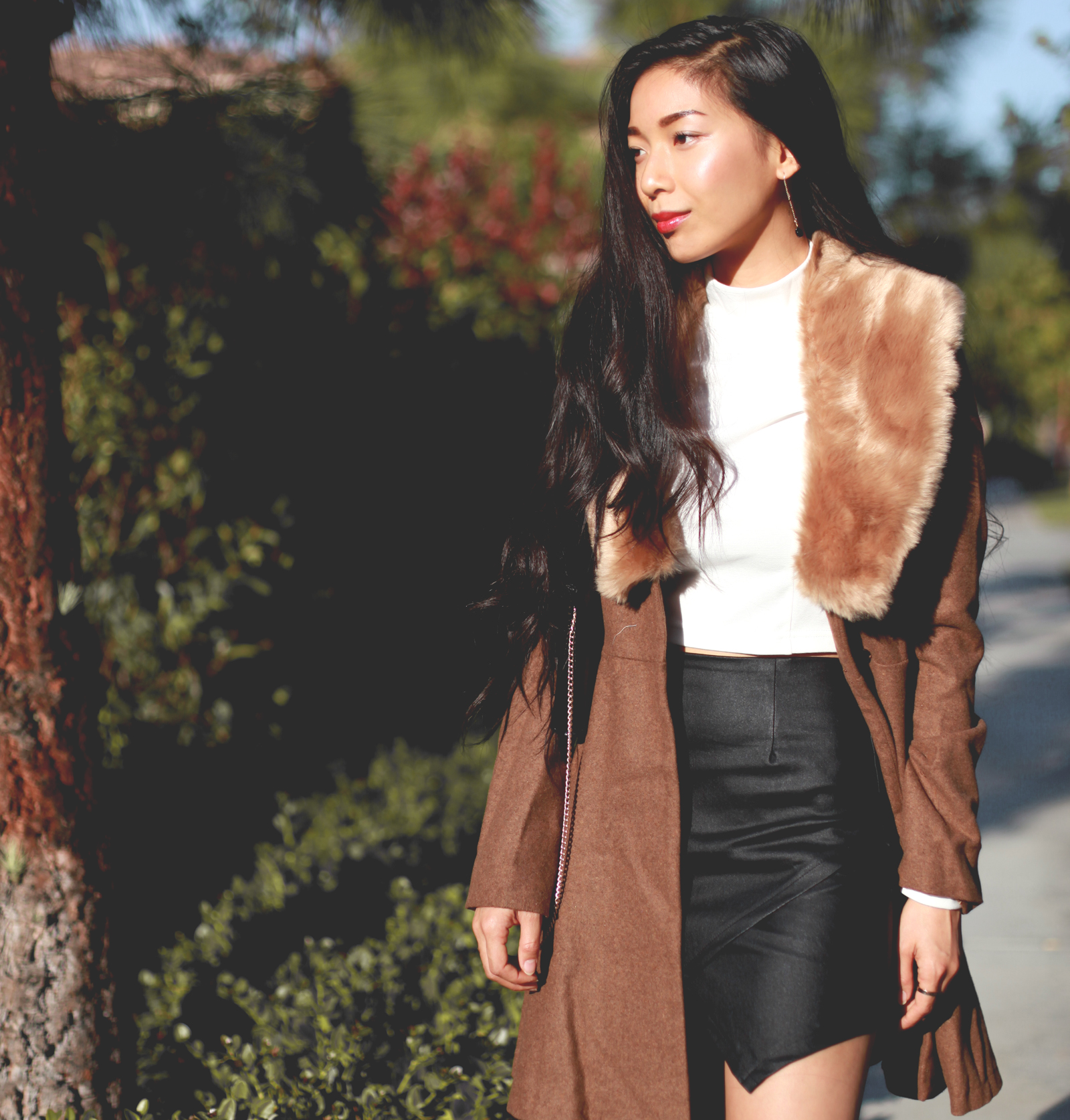 Stephanie Liu of Honey and Silk wearing Lulus for Holiday 8