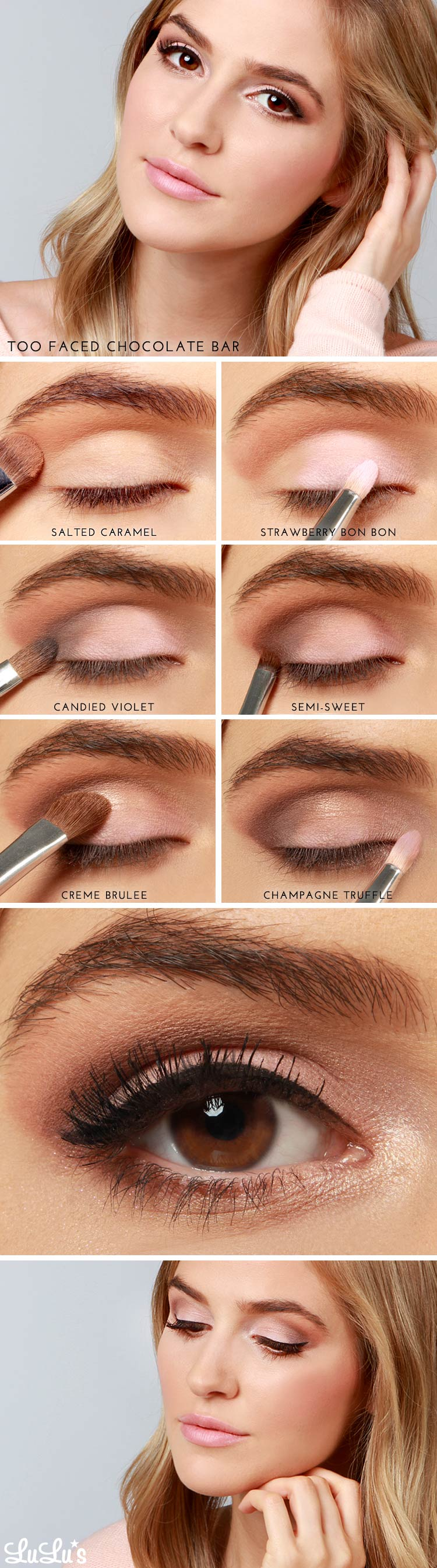 Lulus how to too faced chocolate bar eye shadow tutorial lulus lulus how to too faced chocolate bar eye shadow tutorial at lulus baditri Images