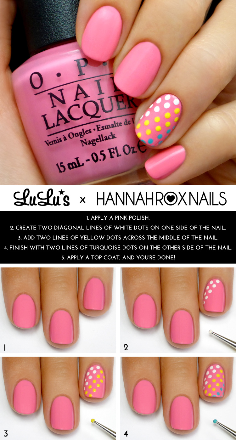 Mani monday pink and candy dot accent nail mani tutorial lulus mani monday pink and candy dot accent nail mani tutorial at lulus baditri Gallery