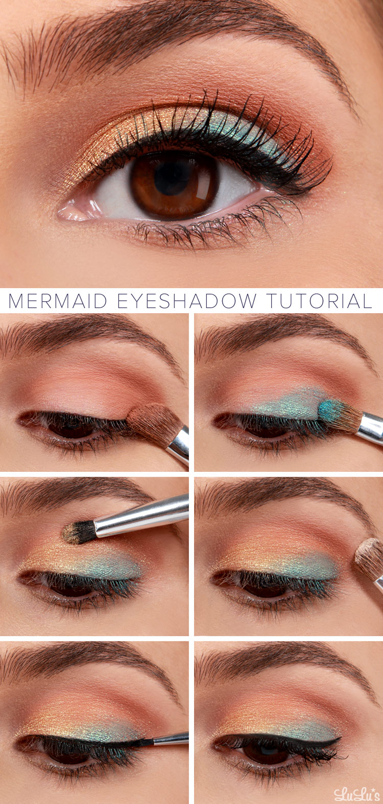 lulus how to mermaid eyeshadow makeup tutorial fashion blog. Black Bedroom Furniture Sets. Home Design Ideas