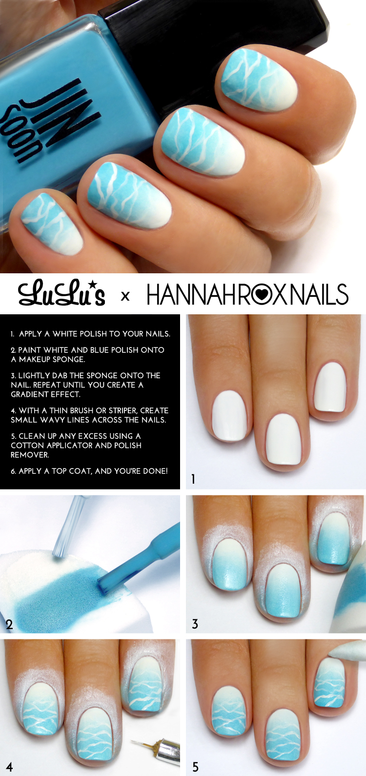 Mani Monday Beach Wave Tutorial At LuLus