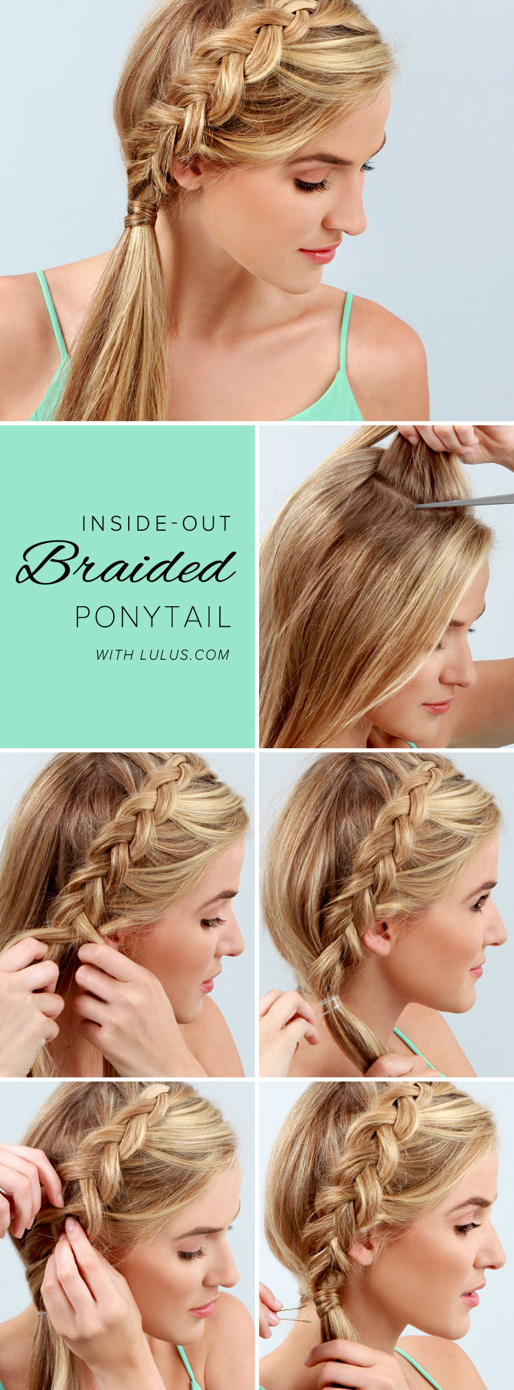 braided ponytai