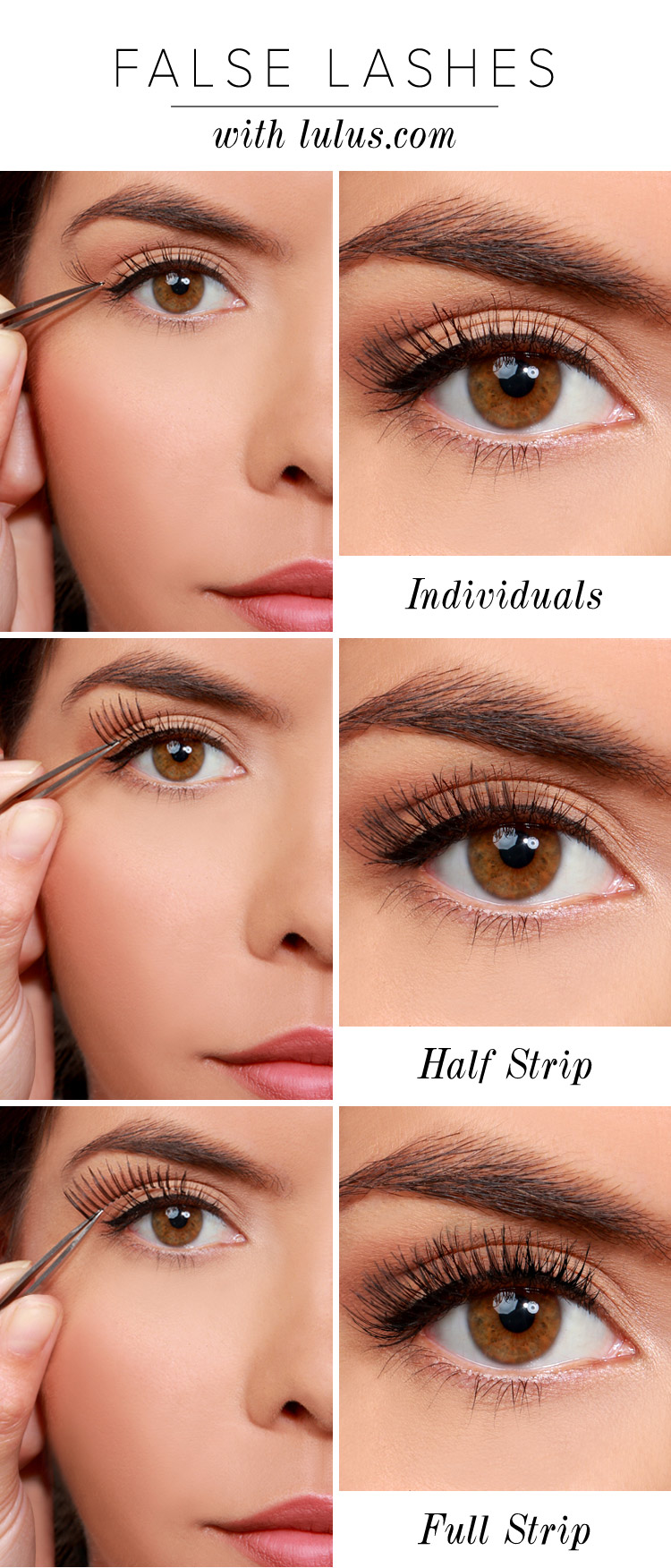 Lulus How To 3 Ways To Wear False Eyelashes Lulus Fashion Blog