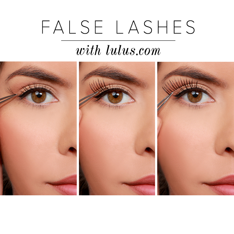 how to wear false lashes everyday