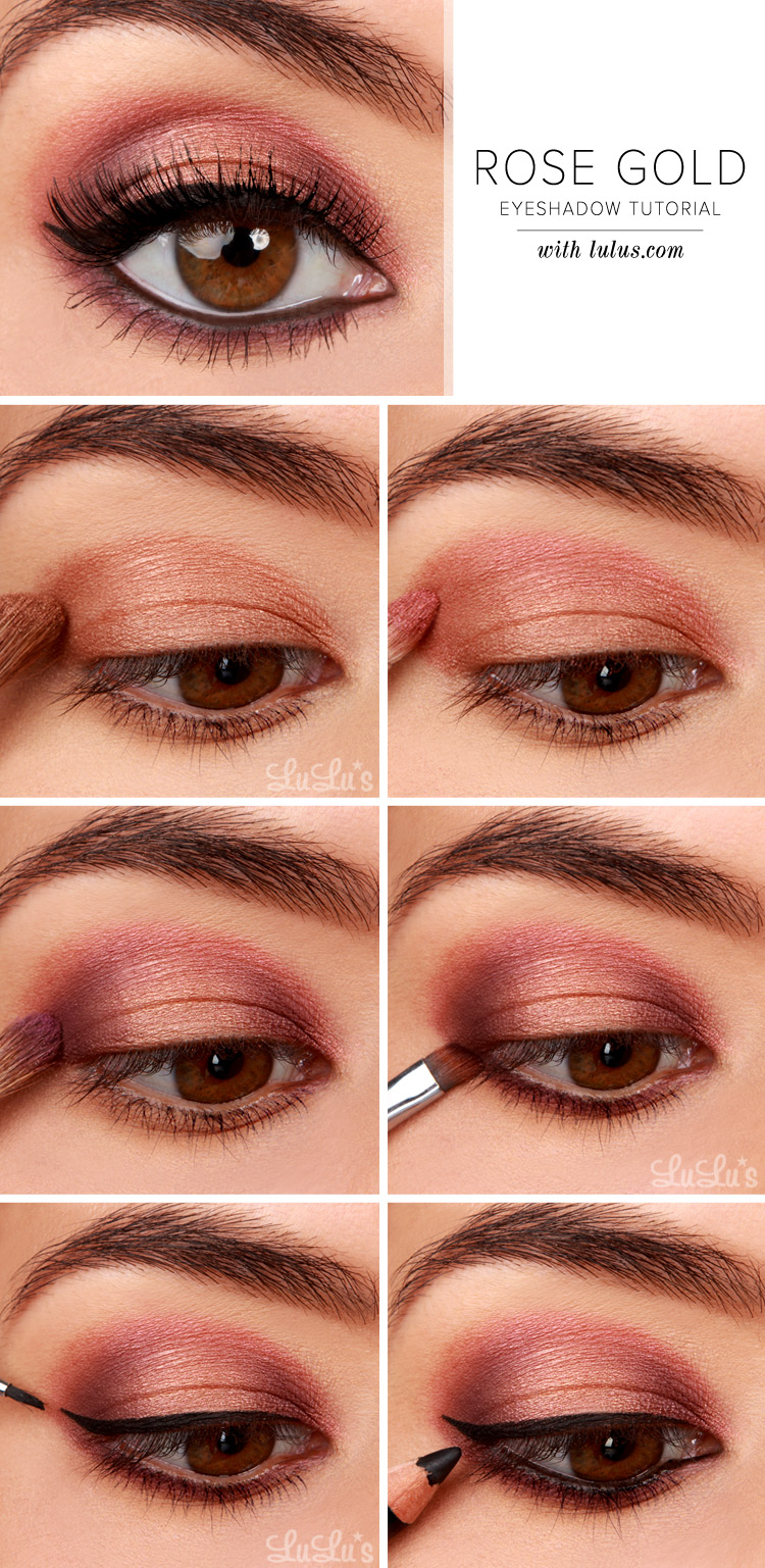 Lulus How To Rose Gold Eyeshadow Tutorial Lulus Fashion Blog