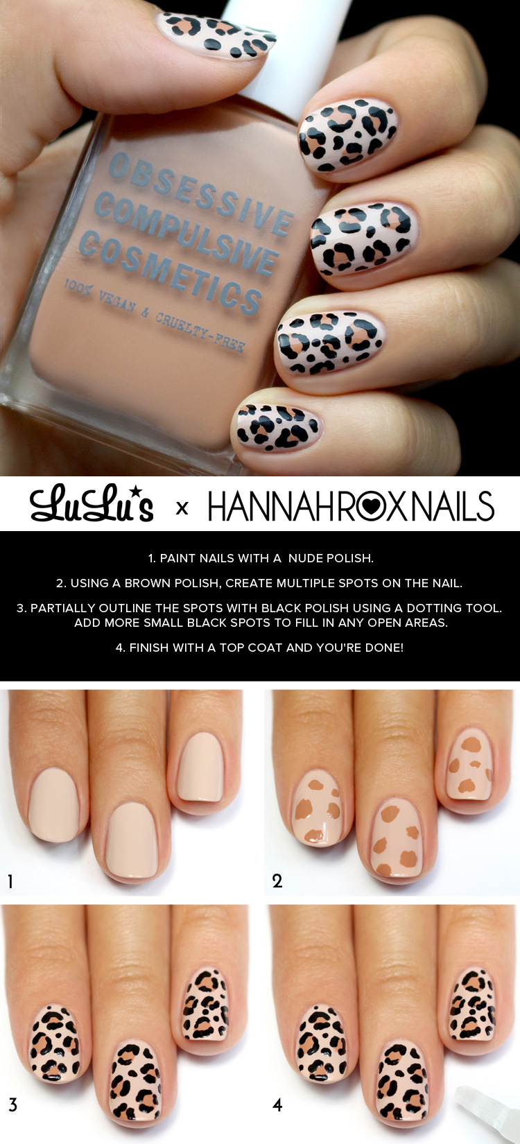 Mani Monday Leopard Print Nail Tutorial At LuLus