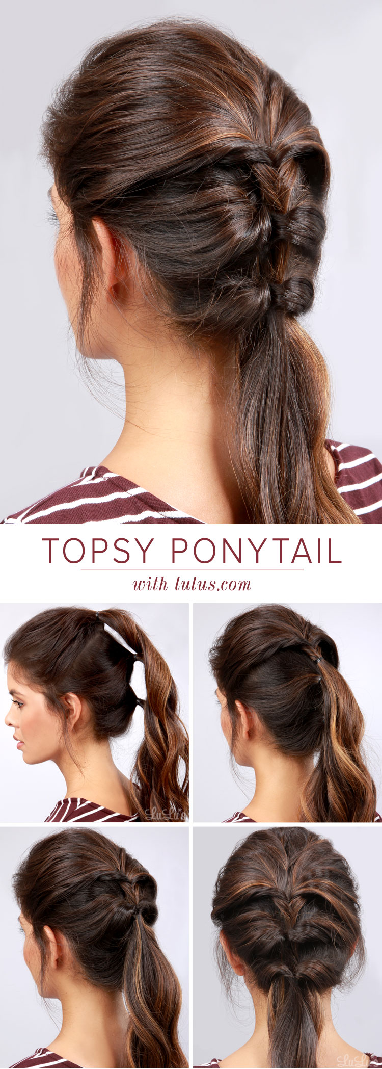 Lulus How To Topsy Ponytail Hair Tutorial Lulus Fashion Blog