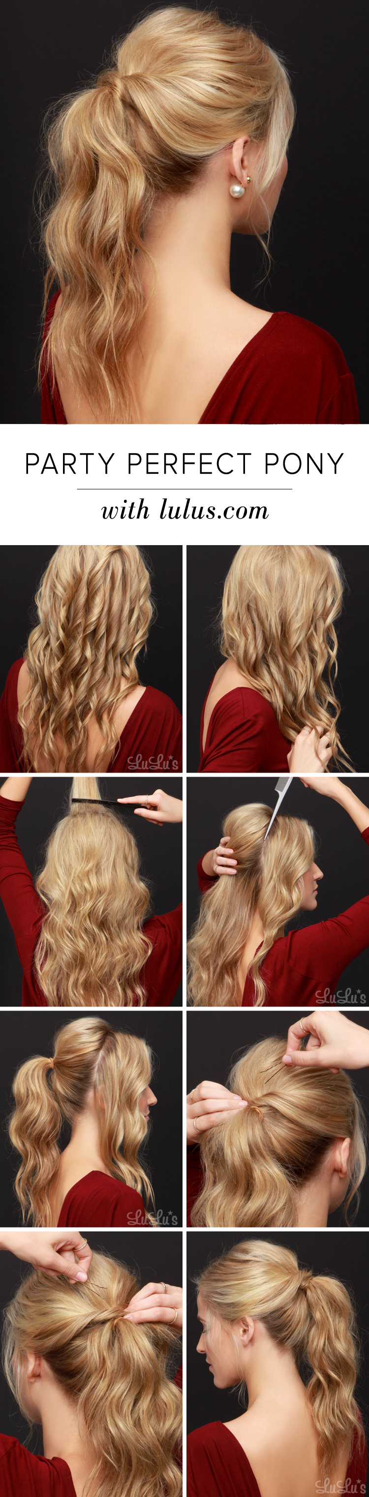 Lulus How To Party Perfect Ponytail Hair Tutorial Lulus