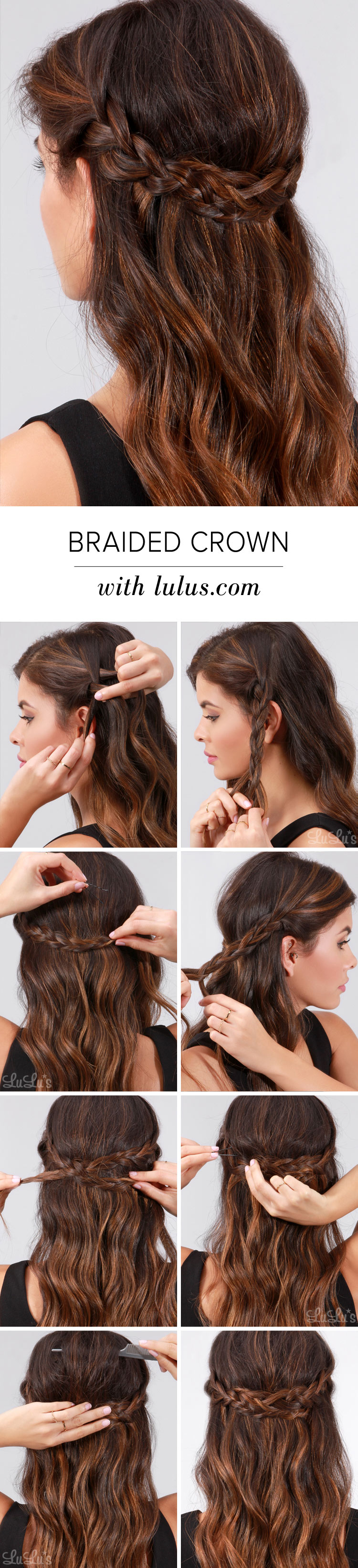 Lulus how to braided crown hair tutorial lulus fashion blog lulus how to braided crown hair tutorial at lulus solutioingenieria Images