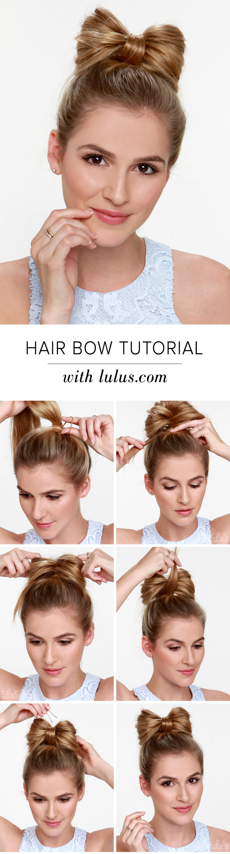 Lulus how to hair bow tutorial lulus fashion blog lulus how to hair bow tutorial at lulus baditri Image collections