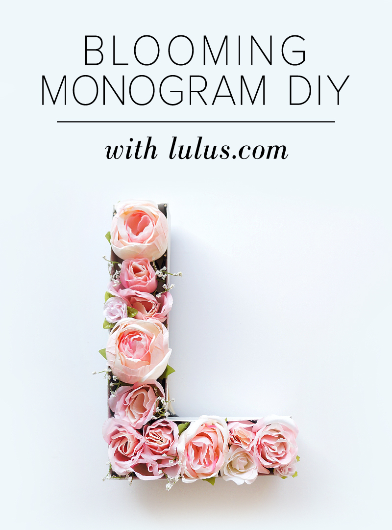 Blooming monogram diy lulus fashion blog blooming monogram diy at lulus solutioingenieria Choice Image