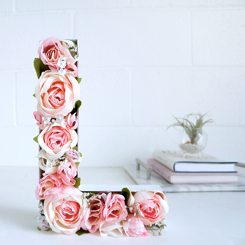 Blooming Monogram DIY at LuLus.com!