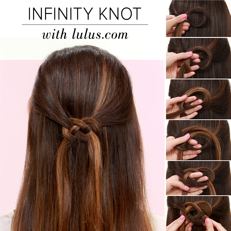 Lulus How-To: Infinity Knot Hair Tutorial - Lulus.com Fashion Blog