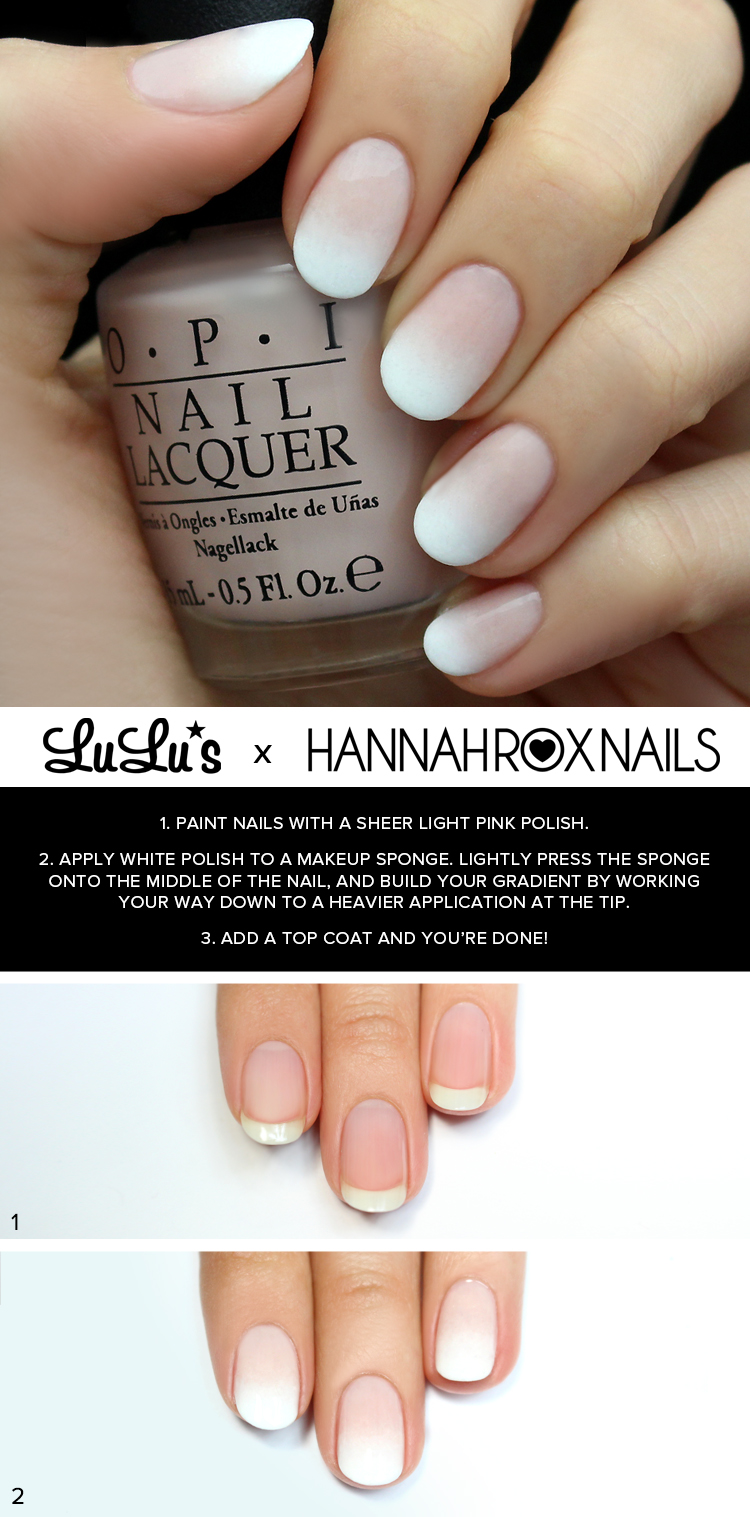 Mani Monday White Ombre Nail Tutorial Lulus Fashion Blog