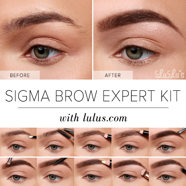 Lulus How To Sigma Brow Expert Kit Eyebrow Tutorial Lulus