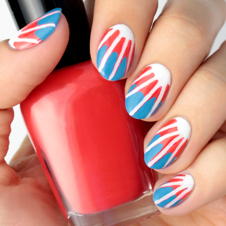 4th of July Tie-Dye Nail