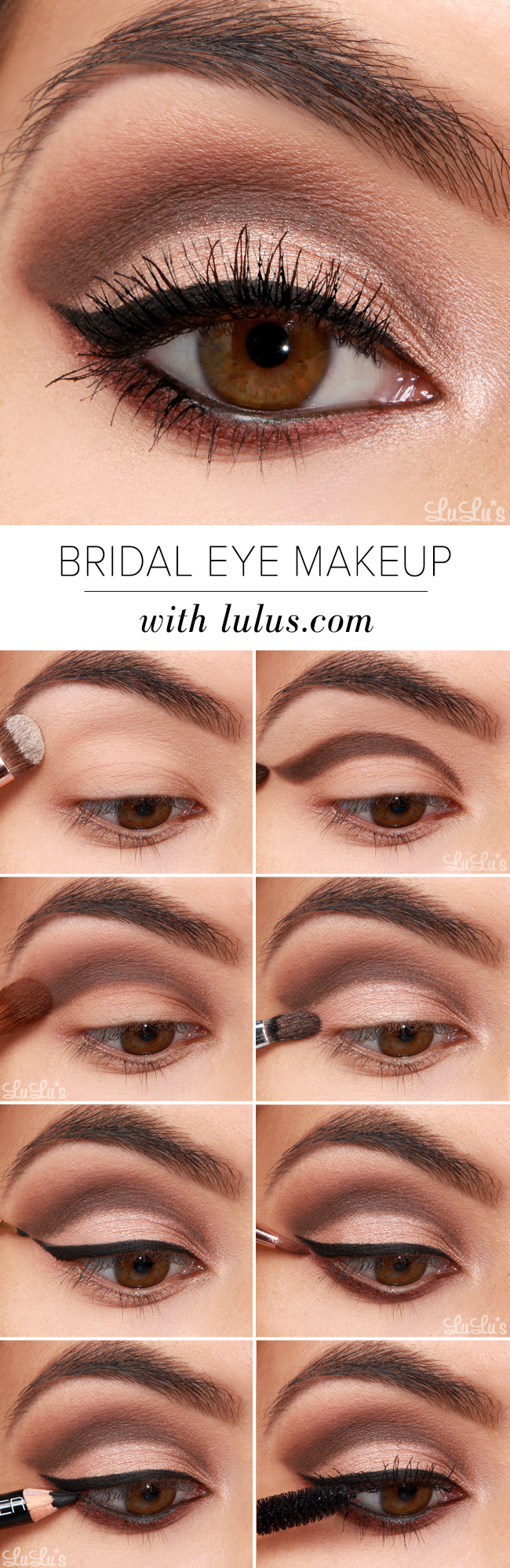 Lulus how to bridal eye makeup tutorial lulus fashion blog lulus how to bridal eye makeup tutorial at lulus baditri Images