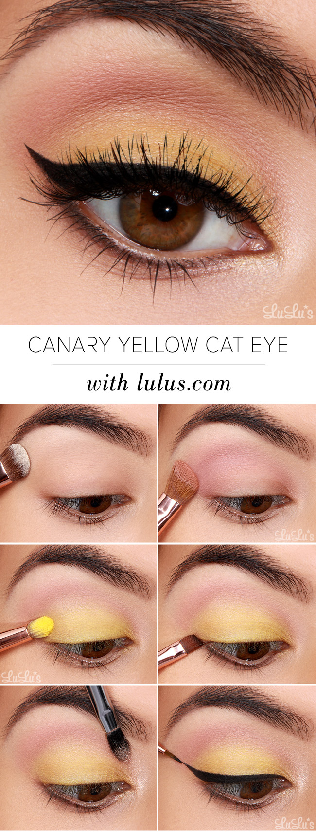 Makeup tutorial archives lulus fashion blog lulus how to canary yellow eye makeup tutorial at lulus baditri Image collections