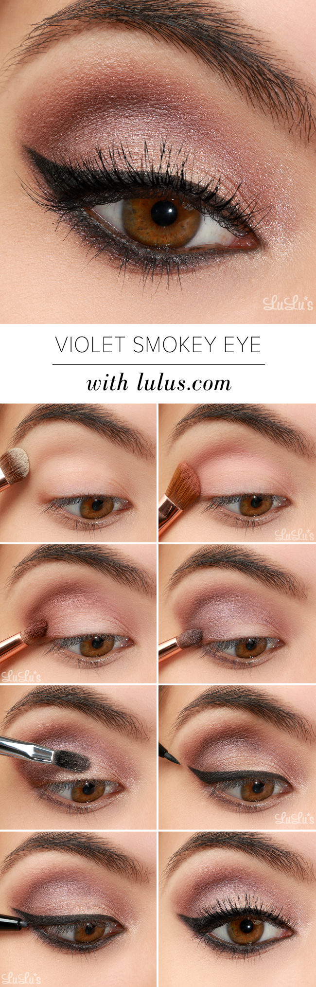Lulus How To Violet Smokey Eye Makeup Tutorial Lulus Fashion Blog