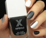 Mani Monday: Metallic Black and White Nail Tutoria…