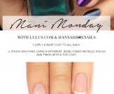 Mani Monday: Metallic Jewel Tone Nail Tutorial