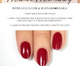 Mani Monday: Black and Red Ombre Nail Tutorial