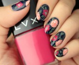 Mani Monday: Blue Floral Print Nail Tutorial
