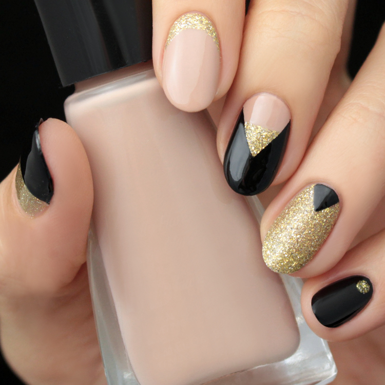 Mani Monday: Gold and Black Nail Tutorial - Lulus.com Fashion Blog
