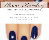 Mani Monday: Navy Blue and Silver Glitter Nail Tut…