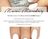 Mani Monday: Silver and White Glitter Nail Tutoria…