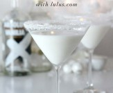 White Chocolate Snowflake Martini