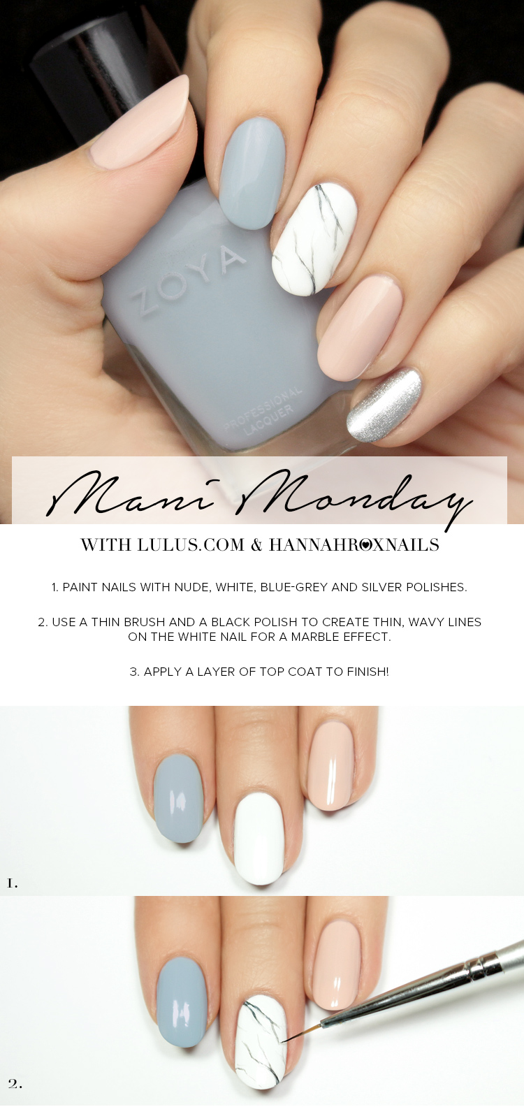 Mani Monday Pastel Marble Nail Tutorial Lulus Fashion Blog