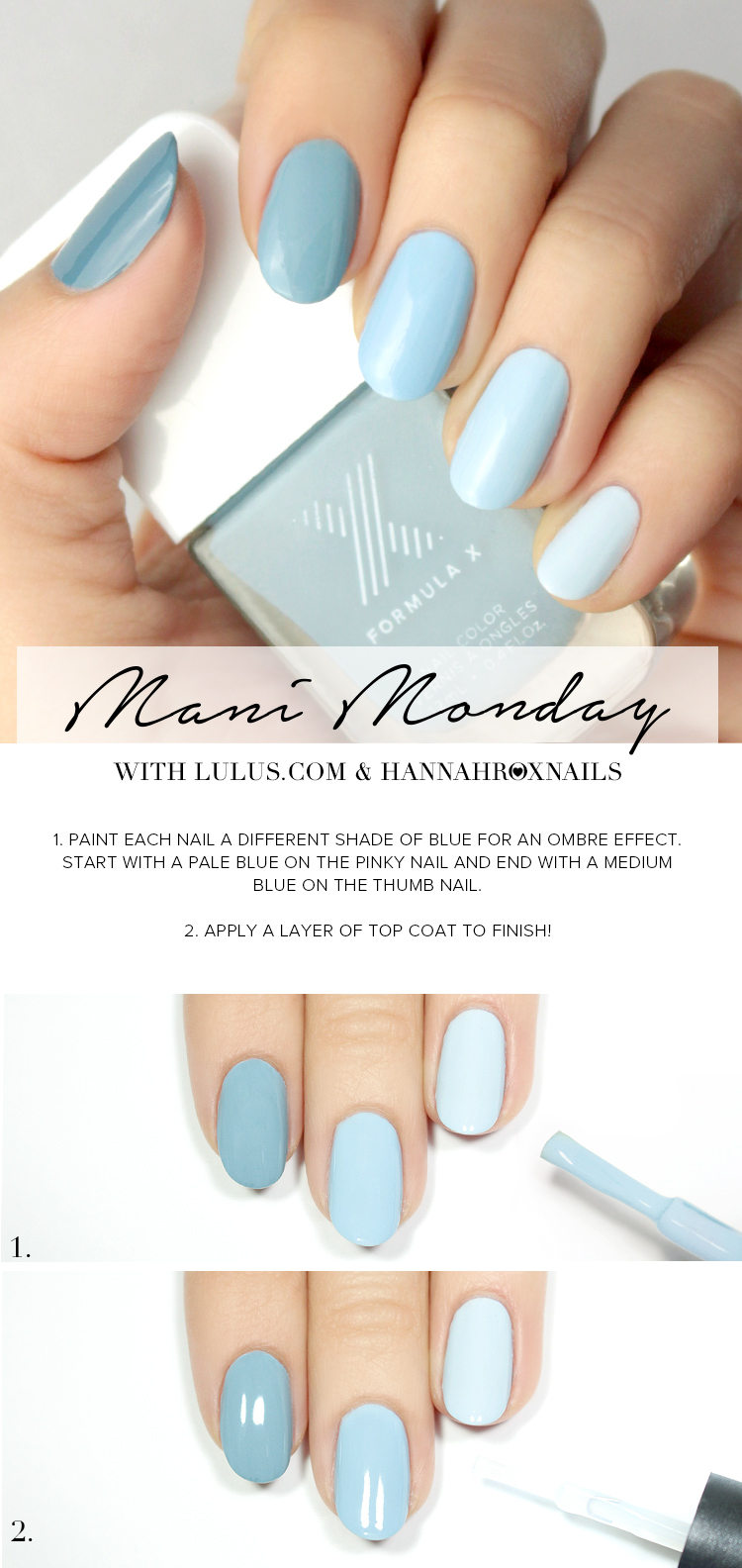 Cool Blue Ombre Nail Tutorial