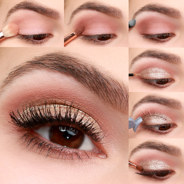 Lulus How-To: Gold and Blush Valentine's Day Eye Makeup Tutorial ...